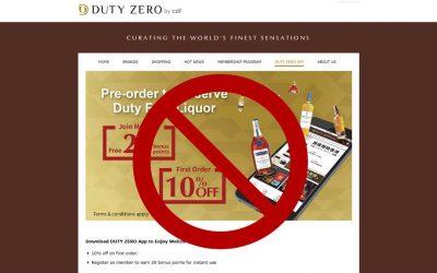 Duty Zero's Hong Kong Airport Pre-Order App Dies a Quiet Death