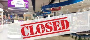 Closed Duty Free Shop